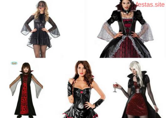 a14a678b9 Fantasia de Vampira  35 Fotos + Como Fazer para Improvisar a Sua!