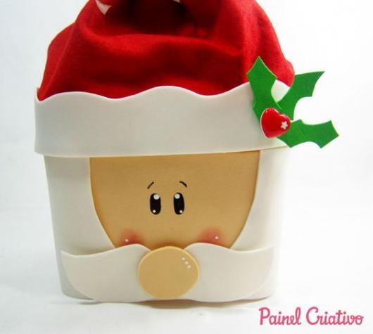 pote de sorvete como lembrancinhas de Natal em EVA