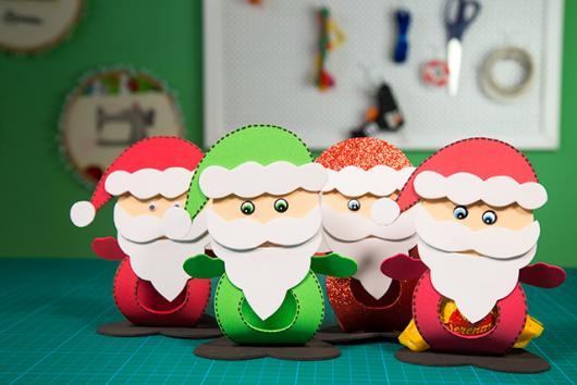 porta-bombons de Natal em EVA