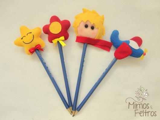 enfeites para lápis do Pequeno Príncipe