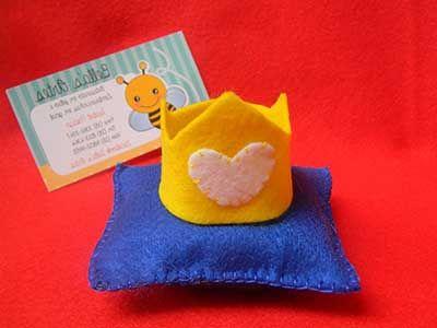 coroa de feltro como lembrancinha do Pequeno Príncipe