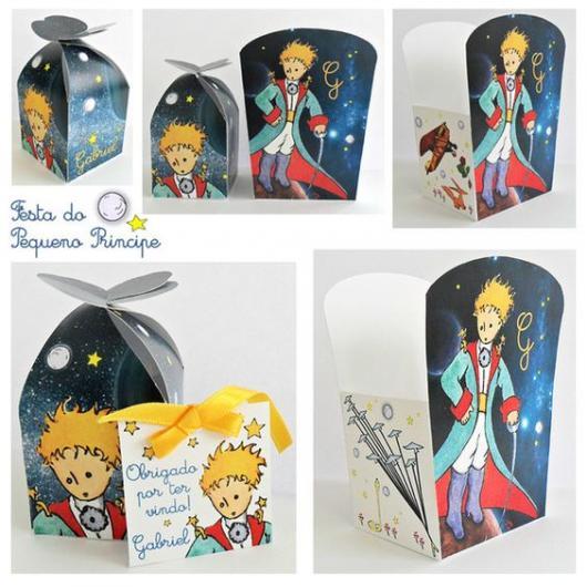 caixa com estampa do Pequeno Príncipe