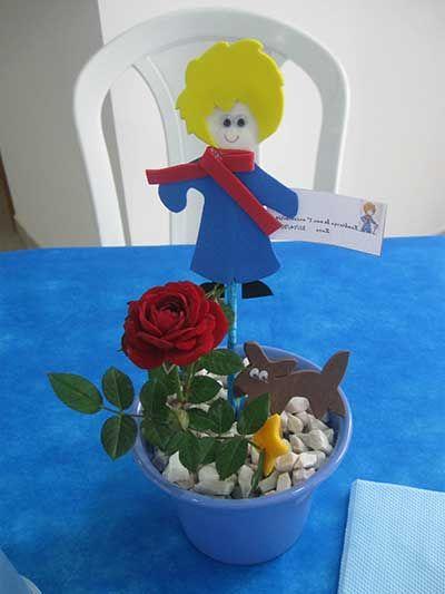 pequeno príncipe de EVA em vaso