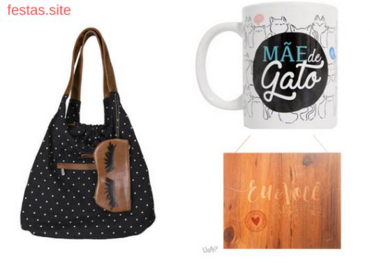 bolsa, caneca e quadro decorativo como presentes de Natal para namorada