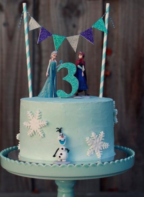 bolo decorado simples