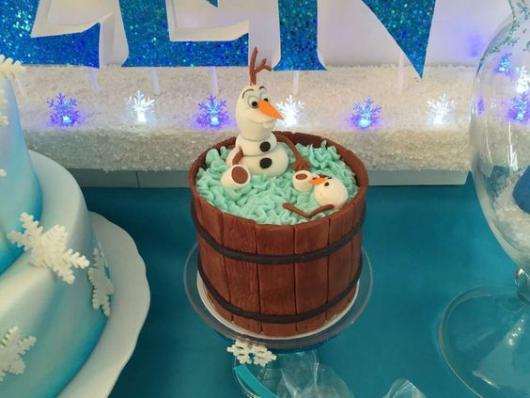 mini bolo Olaf