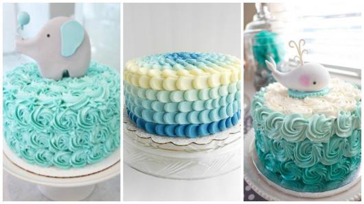 ideias para bolo de chantilly azul