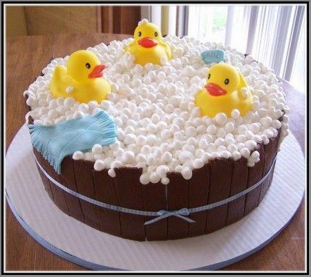 bolo decorado pato amarelo