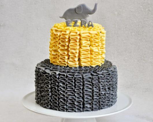 bolo decorado elefante