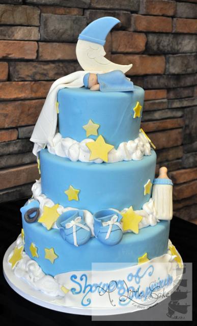 bolo decorado estrelas