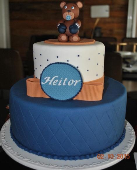 bolo azul escuro