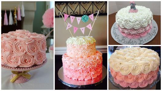 ideias bolo menina chantilly / glacê