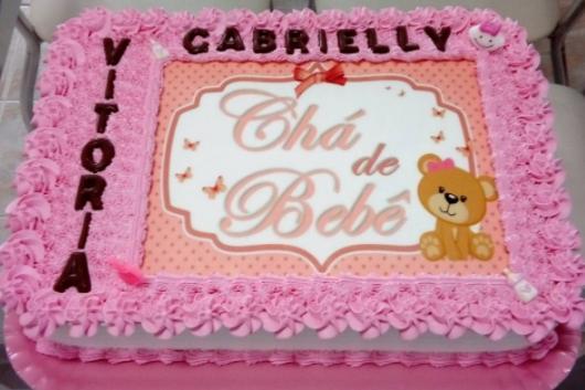 bolo simples com nome