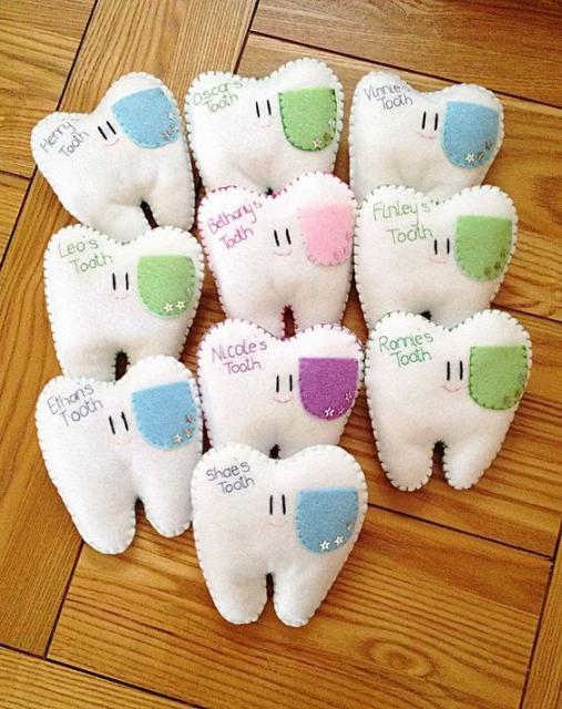 lembrancinha de feltro odontologia