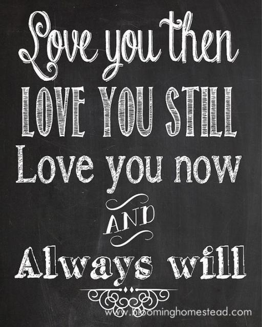 Mensagem dizendo: Amava você antes, ainda amo , amo agora e sempre amarei.
