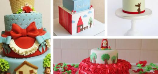bolos chapeuzinho vermelho