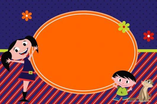 convite Show da Luna para imprimir nas cores azul, vermelho e laranja