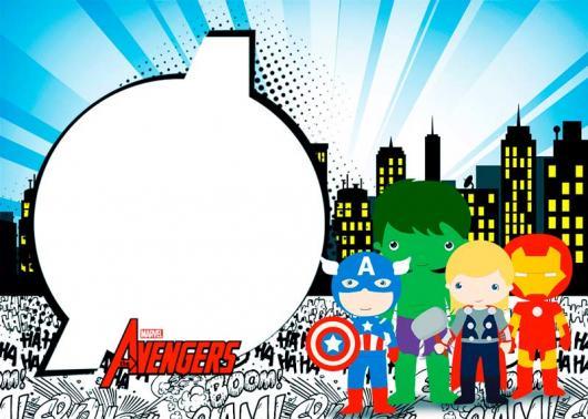 Imagem de convite com os personagens para imprimir.