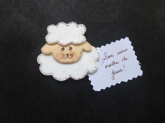 ovelha com mensagem como lembrancinhas evangélicas