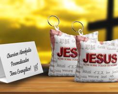 chaveiro com Jesus como lembrancinhas evangélicas