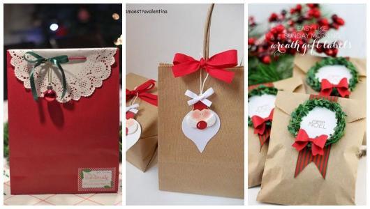 Ideias de embalagens para presentes de Natal para namorado.