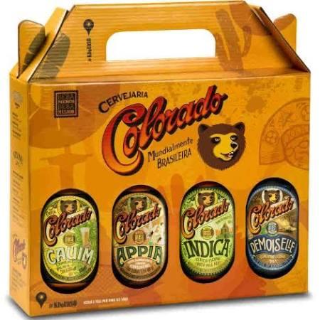 Kit com quatro cervejas Colorado.