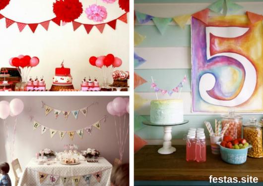 mesas decoradas para festa infantil sem tema