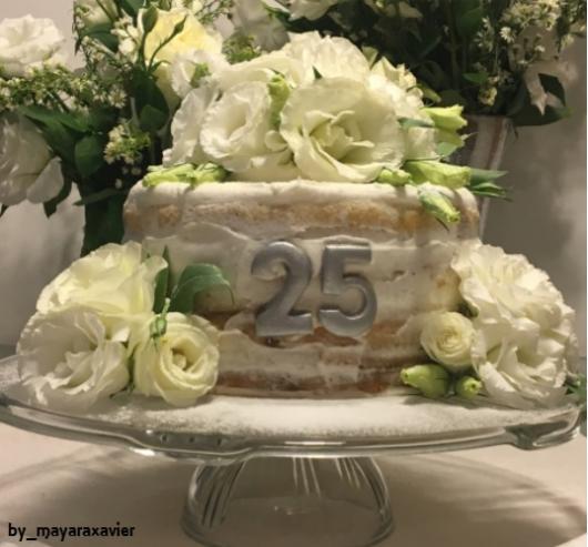 bolo decorado flores
