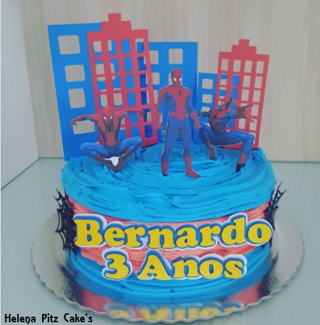 bolo decorado com nome