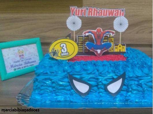 bolo azul retangular