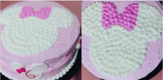 bolo simples confeitado