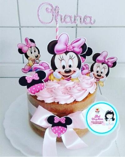 bolo simples Minnie bebê