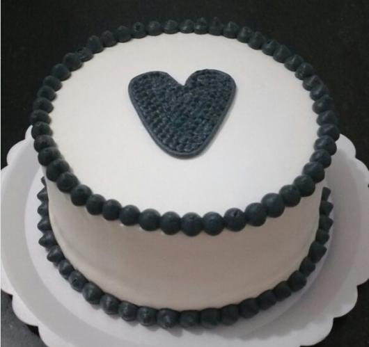 bolo decorado coração