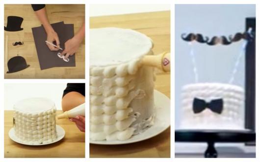 passo a passo decoração de bolo