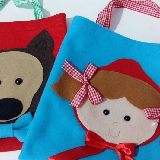bolsa sacola para lembrancinhas chapeuzinho vermelho