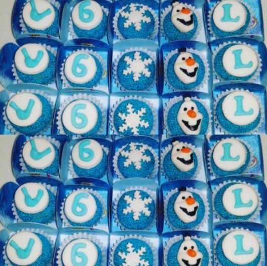 doces personalizados Frozen