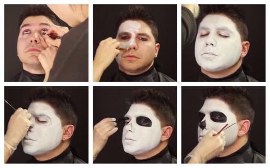 passo a passo maquiagem caveira mexicana