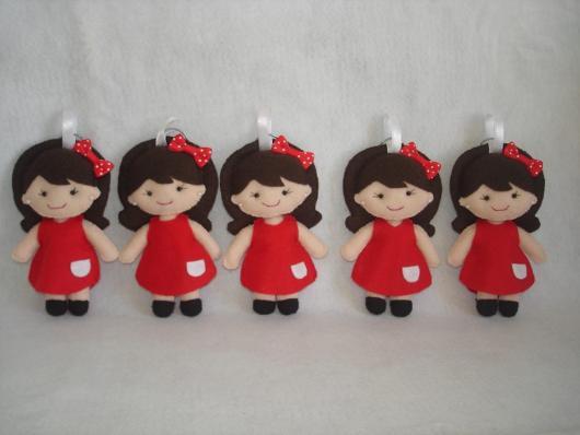 chaveiro de feltro da chapeuzinho vermelho
