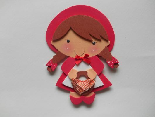 ímã de geladeira da chapeuzinho vermelho