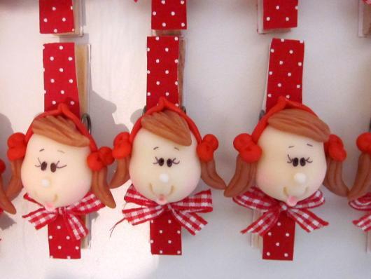 pegador de roupa decorado para lembrancinhas chapeuzinho vermelho