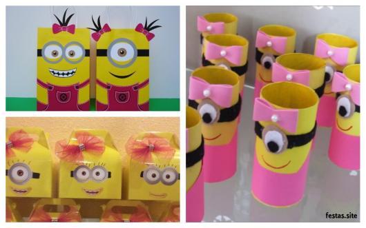 ideias Minions rosa