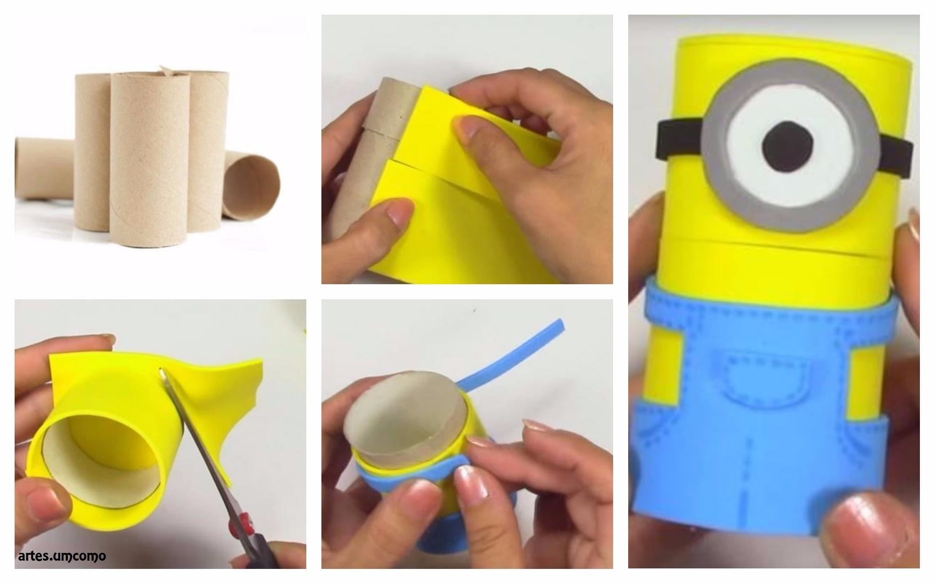 Como fazer um porta-lápis dos Minions