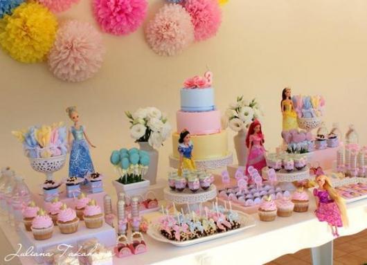 festa menina princesas Disney
