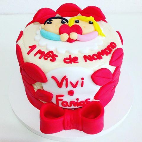 bolo de pasta americana para bodas de beijinho