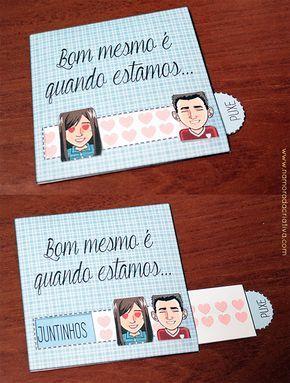 cartão de bodas de beijinho