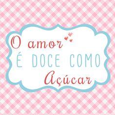 mensagem amor doce como açúcar