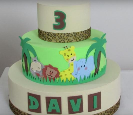 bolo fake safari pronto depois de passo a passo
