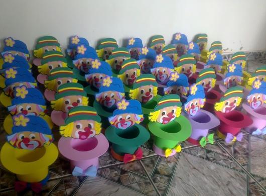 Lembrancinhas Patati Patatá centro de mesa EVA