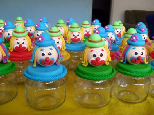 Lembrancinhas Patati Patatá pote de papinha cabeça biscuit