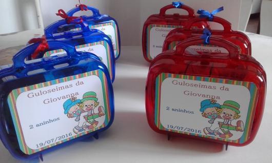 Lembrancinhas Patati Patatá maleta doces
